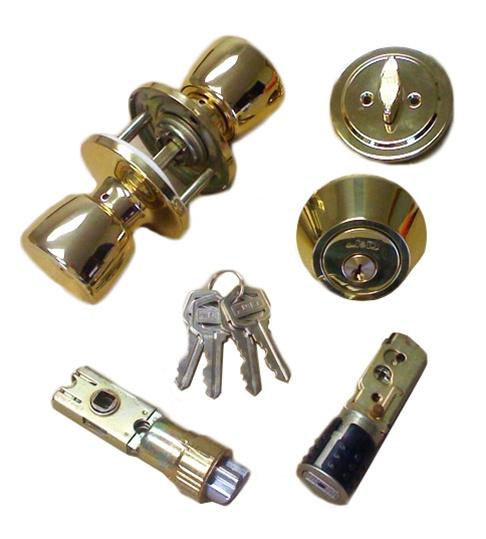 Brass Combination Door Lock Set For Mobile Home
