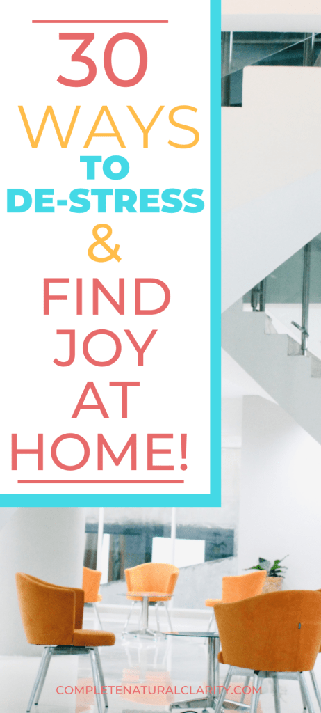 30 Ways to Relieve Stress & Find Your Inner Joy While Social Distancing! Let's try to focus on what we CAN control during this time of uncertainty. Learn 30 uplifting, inspiring activities that you can do at home to make the most of your time indoors, reducing stress, easing depression, & adding some peace to your days during this health crisis! #covid19 #activitiesathome #anxietyrelief #stressrelief #findingjoy #personaldevelopment #socialdistancing