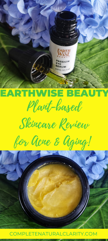 Guide to my favorite plant-based, natural skincare brand Earthwise Beauty! Click to read my review and skincare routine for acne-prone, sensitive, & aging skin! This one-of-a-kind line of products are like nothing else in green beauty and produce powerful, skin healing results powered by herbal remedies! #cleanbeauty #earthwisebeauty #naturalskincare #greenbeauty #greenbeautyroutine #acne #antiaging #sensitiveskin
