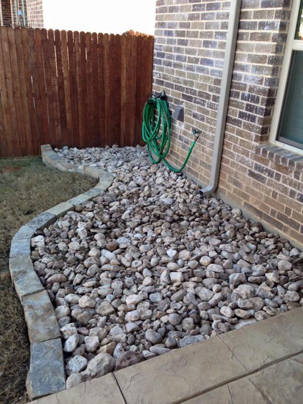 river rock beds remodeling contractor