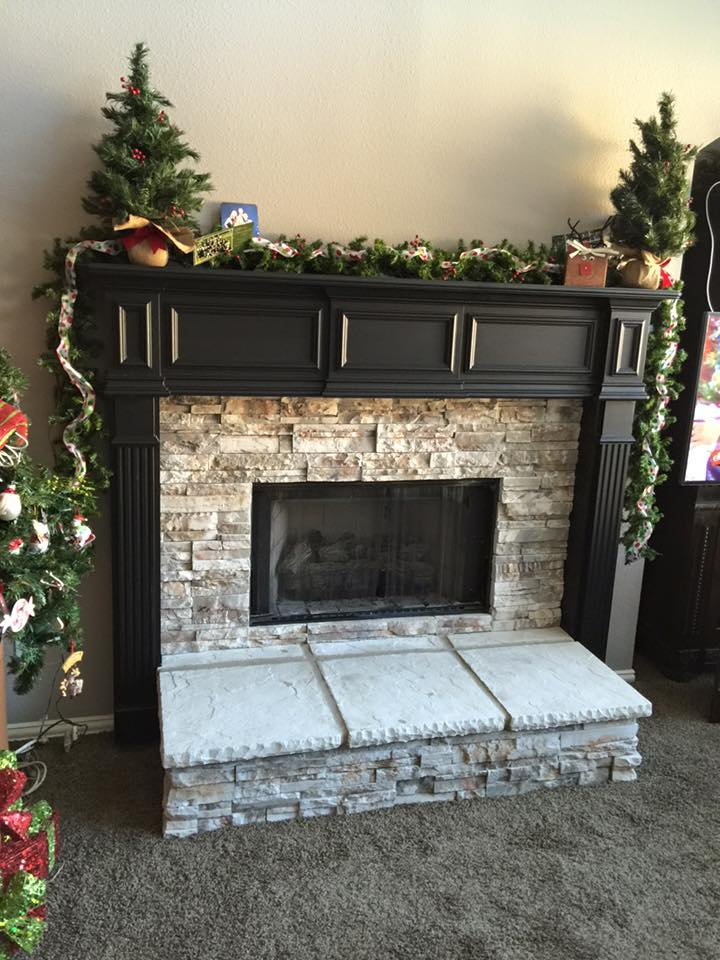 Stone Veneer Fireplace Remodel  Remodeling Contractor  Complete Solutions  Flower Mound TX