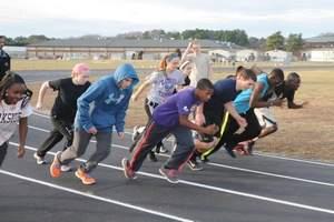 athletes practice