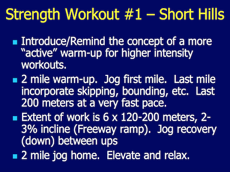 Cross Country Hill Workouts