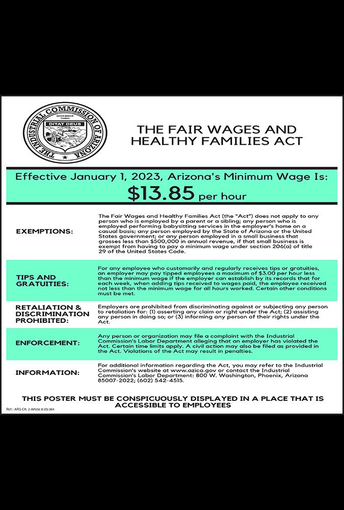 arizona 2021 minimum wage peel n post