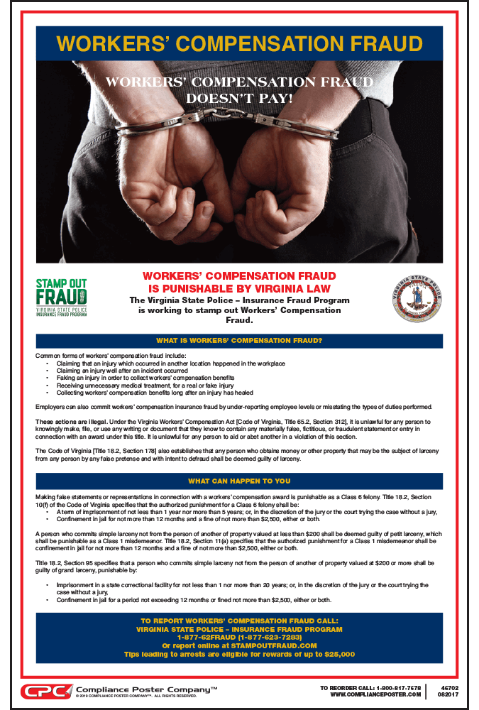 virginia workers compensation fraud poster