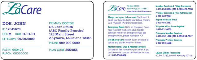 Louisiana Card Image Gemescool Medicaid org