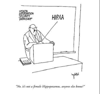 This weeks funny HIPAA cartoon