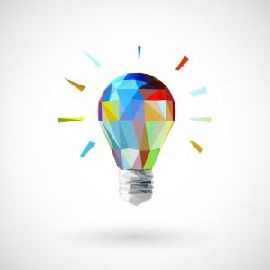 inspiration ampoule couleurs cubique