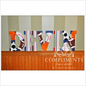hand painted letters devin