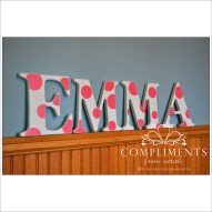 hand painted letters emma