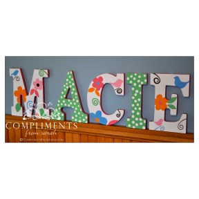 hand painted letters macie