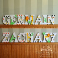 hand painted letters germain zachary twins