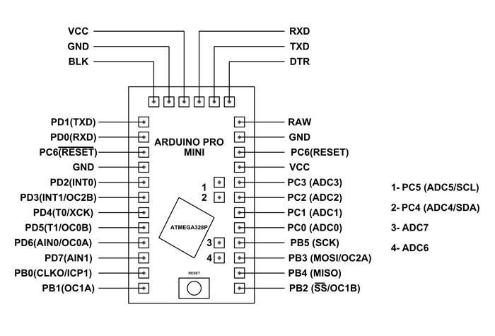 Arduino Pro Mini Micro controller Dvelopment board Atmega328 5V16MHz  ktechnics
