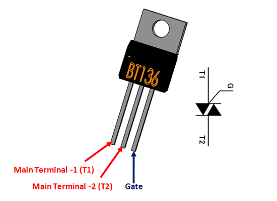 BT136-600E TRIAC Pinout, Equivalent, Specifications