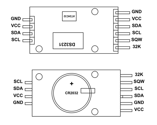 DS3231 RTC Module Pinout, Configuration, Example Circuit