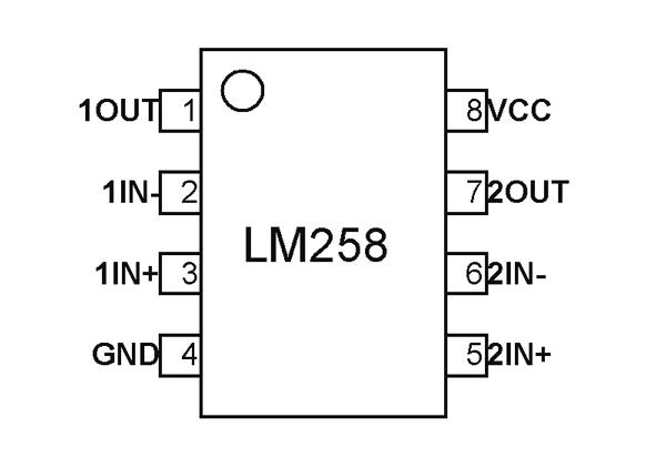 LM258 Dual Op amp Pinout, Features, Circuit & Datasheet