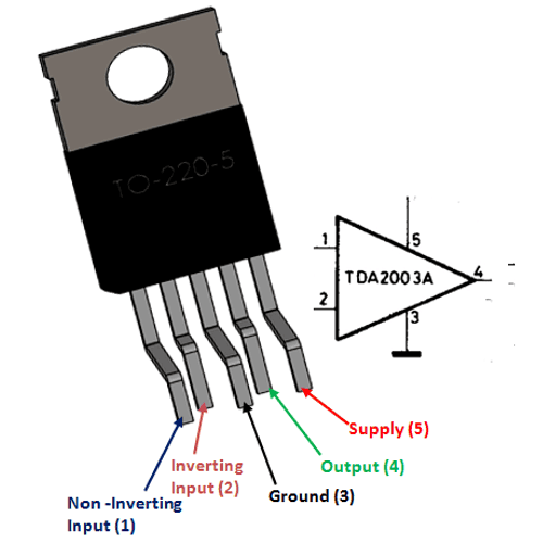 Amplifier Is Connected To The Following Pins Pin 3 Noninverting