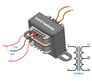 12012 Centre Tapped Transformer: Wiring, Specifications