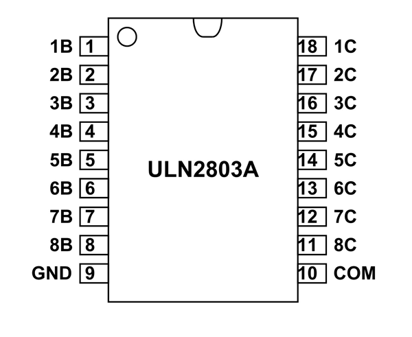 circuit diagram with pin number