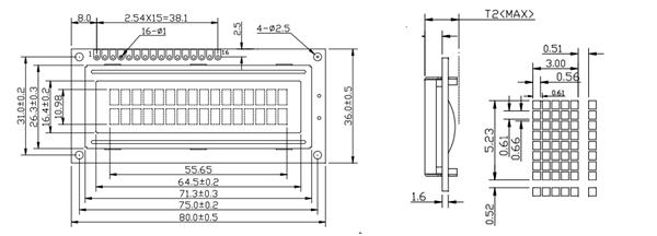 16x2 LCD Module: Pinout, Diagrams, Description & Datasheet