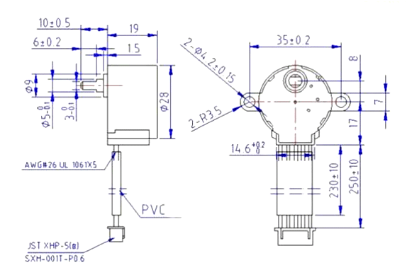 s drive wiring diagram two speed three phase motor 28byj 48 stepper pinout specifications uses guide 28 byj48 dimensions