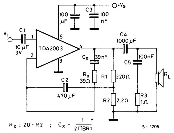tda2003 amplifier application circuit amplifiercircuit circuit