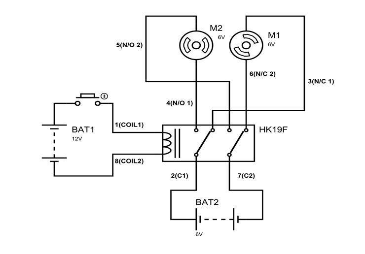 4pdt Relay Wiring Diagram. Schematic Diagram. Electronic