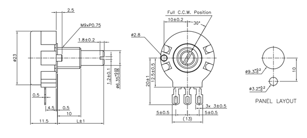 10K Potentiometer Pinout, Working & Datasheet Explained