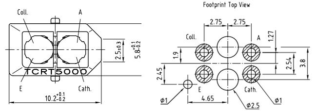TCRT5000 IR Sensor Pinout, Equivalent, Circuit & Datasheet