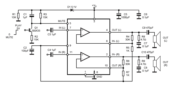 TDA7265 Stereo Audio Amplifier IC Pinout, Features & Datasheet