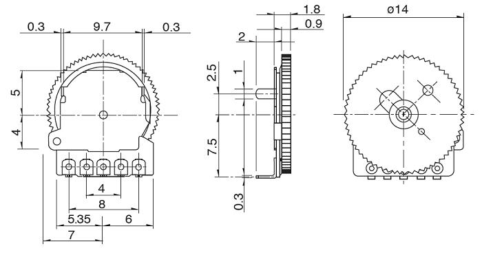 Thumbwheel Potentiometer Pinout, Features, Details & Datasheet