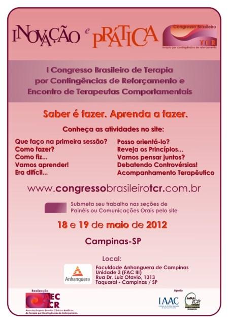 I Congresso Brasileiro de Terapia por Contingências de Reforçamento (TCR) - Campinas/SP 5