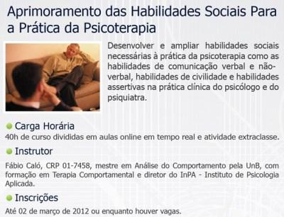 Cursos Online do InPA - Habilidades Sociais/Terapia Comportamental Infantil 15