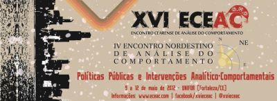 XVI Encontro Cearense de Análise do Comportamento/IV Encontro Nordestino de Análise do Comportamento 5
