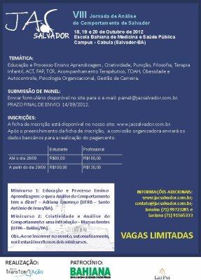 VIII Jornada de Análise do Comportamento de Salvador/BA 5