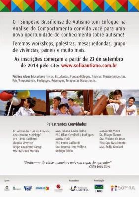 I Simpósio Brasiliense de Autismo com Enfoque na Análise do Comportamento - Brasília/DF 11