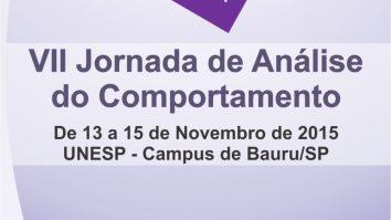 VII Jornada de Análise do Comportamento UNESP-Campus de Bauru/SP 22