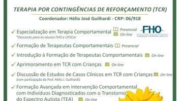 Matrículas Abertas para Cursos em Terapia por Contingências de Reforçamento (TCR) 17