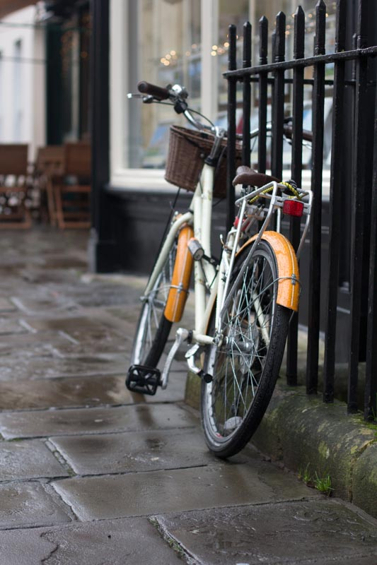 Classic looking bicycle in Bath, England