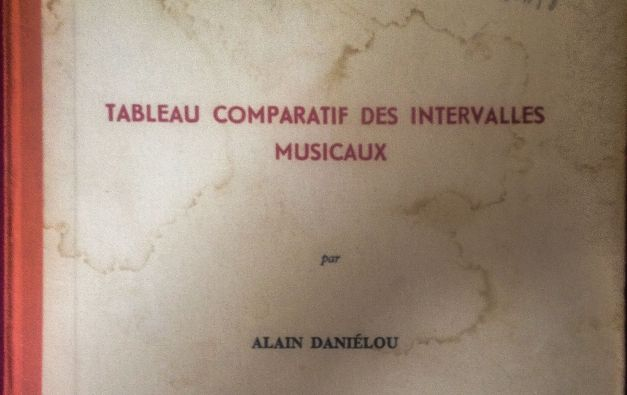 Daniélou's book includes hundreds of different intervals. After almost 10 years the book still rides shotgun in my musical research.