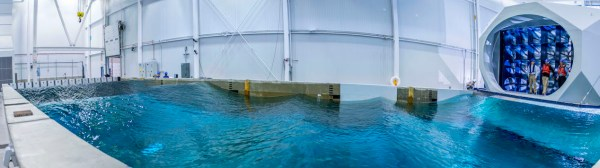 Panorama of Alfond W2 Ocean Engineering Lab from July 2016.