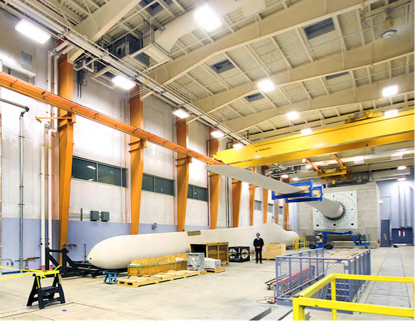 Inside view of completed Offshore Wind Lab expansion.