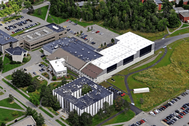 View of UMaine Composites Center following Offshore Wind Lab expansion in 2011.