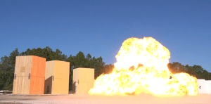 CLT Blast Testing at Tyndall Air Force Base