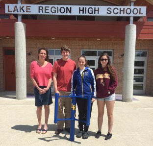 Photo of the winner of the Windstorm Challenge, the Lakes Region High School