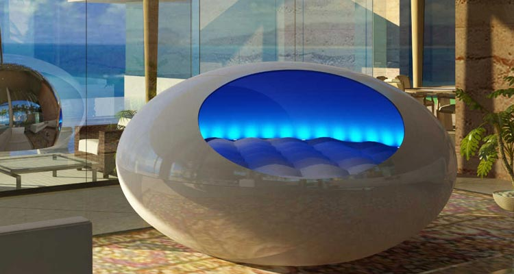Giant Fiberglass Waterbed Costs 30000 and Vibrates with