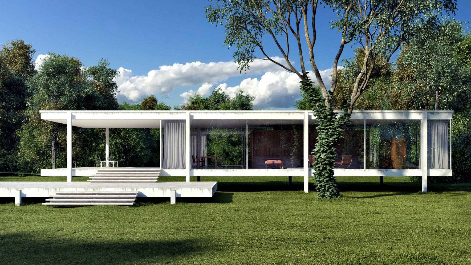 Ludwig Mies van der Rohe Casa Farnsworth  ComposizioneUnoA 2014