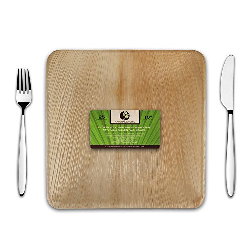 Buy Disposable Eco Palm Paper Plates Square Compostable
