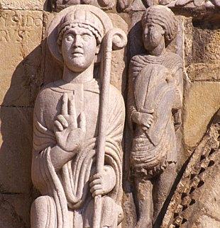 San Isidoro León La Puerta del Corderón Facade Frieze Spandrel Saint Isidore
