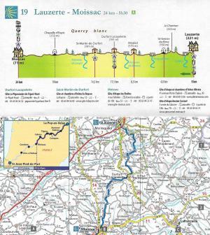 Chemins de Compostelle - Le Puy-en-Velay >Saint-Jean-Pied-de-Port - kaart